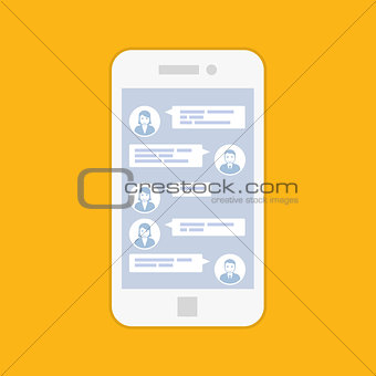 Smartphone chat interface - short sms messenger service interfac