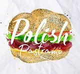 Polish pastrami burger