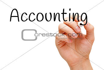 Accounting Handwritten With Black Marker