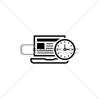 Time Management Icon. Business Concept. Flat Design.