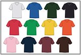 Template T-shirt V Neck  Colorful, Vector.
