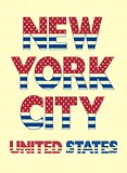 Vintage New York City  Typography For T-shirt, Vector.