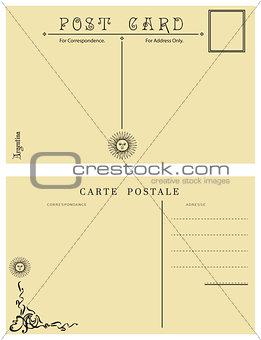 Antique post card Argentina