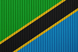 Textured flag of Tanzania in nice colors