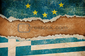 Greece withdrawal from European union Grexit concept