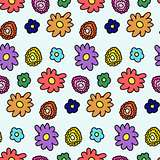 Colorful spring flower pattern