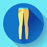 woman sportswear - sport and yoga leggings