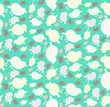 Tender seamless birds pattern
