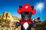 cowboy western sheriff dog