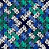 Interlacing knitting seamless pattern