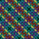 Multicolor knitting seamless pattern