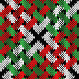 Interlaced knitting seamless pattern