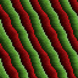 Pattern with red and green alternating stripes