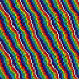 Pattern with multicolor alternating stripes
