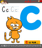 letter c with cartoon cat