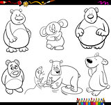 bear characters coloring page