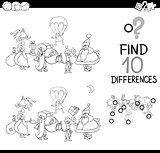 xmas difference game for coloring
