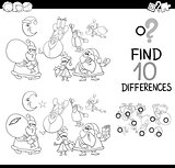 xmas differences coloring page