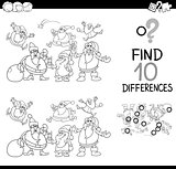 xmas difference game coloring page