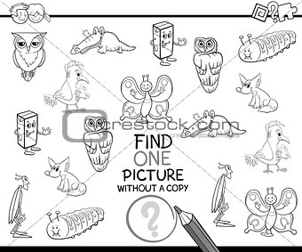 single picture coloring page
