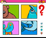 guess animals activity game