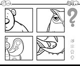 guess animals coloring page