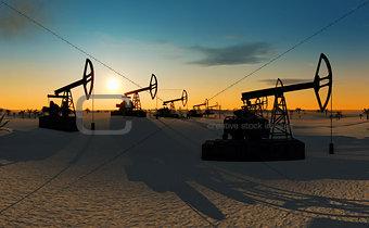 oil pumps in the desert