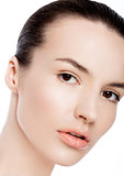 Beautiful woman girl natural makeup spa skin care