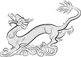 Old Chinese Traditional Dragon, vector illustration