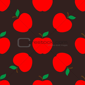 Apple dark seamless pattern background