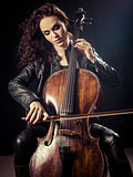 Gorgeous cellist