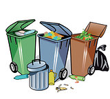 Trash Can and Garbage illustration