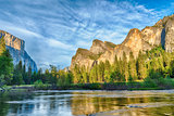 Evening in Yosemite valley