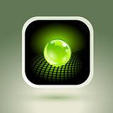 Sphere App Icon. Conceptual Hi-Tech Design.
