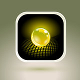 Sphere App Icon. Conceptual Hi-Tech Design.