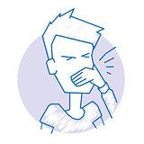 Man sneezes icon