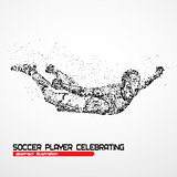 soccer player celebrating