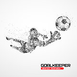 abstract, football, goalkeeper, athlete