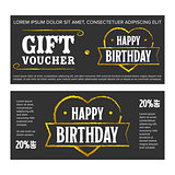 Gift voucher for birthday
