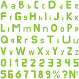 Green fonts soft style hand work for commerce use.