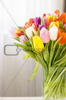 bouquet of Mix tulips flowers