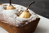 Chocolate cake with pear