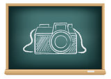blackboard photo camera