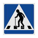 Traffic sign pedestrian crossing elderly