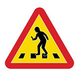 Traffic sign warning pedestrian smartphone