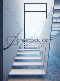 modern stairs in penthouse