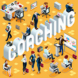Coaching Isometric People 3D Set Vector Illustration