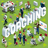 Coaching Isometric People Icon 3D Set Vector Illustration