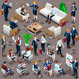 Isometric People Diverse Business Icon 3D Set Vector Illustratio