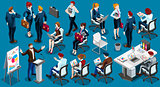 Isometric People Informal Meeting Icon 3D Set Vector Illustratio